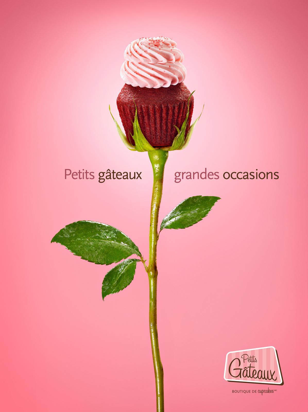 Petits Gâteaux Print Ad -  Rose