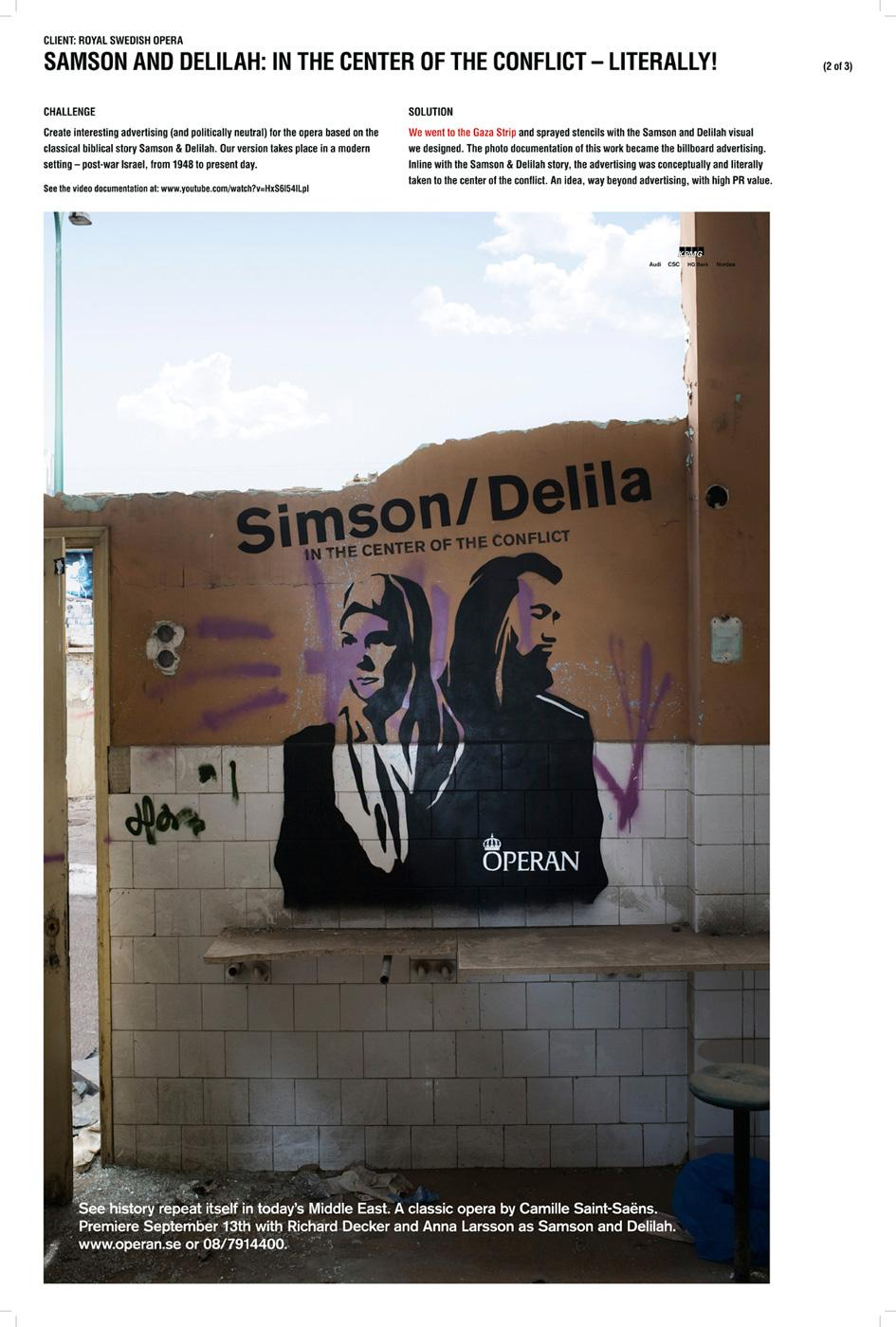 Royal Swedish Opera Ambient Ad -  In the center of the conflict, 3