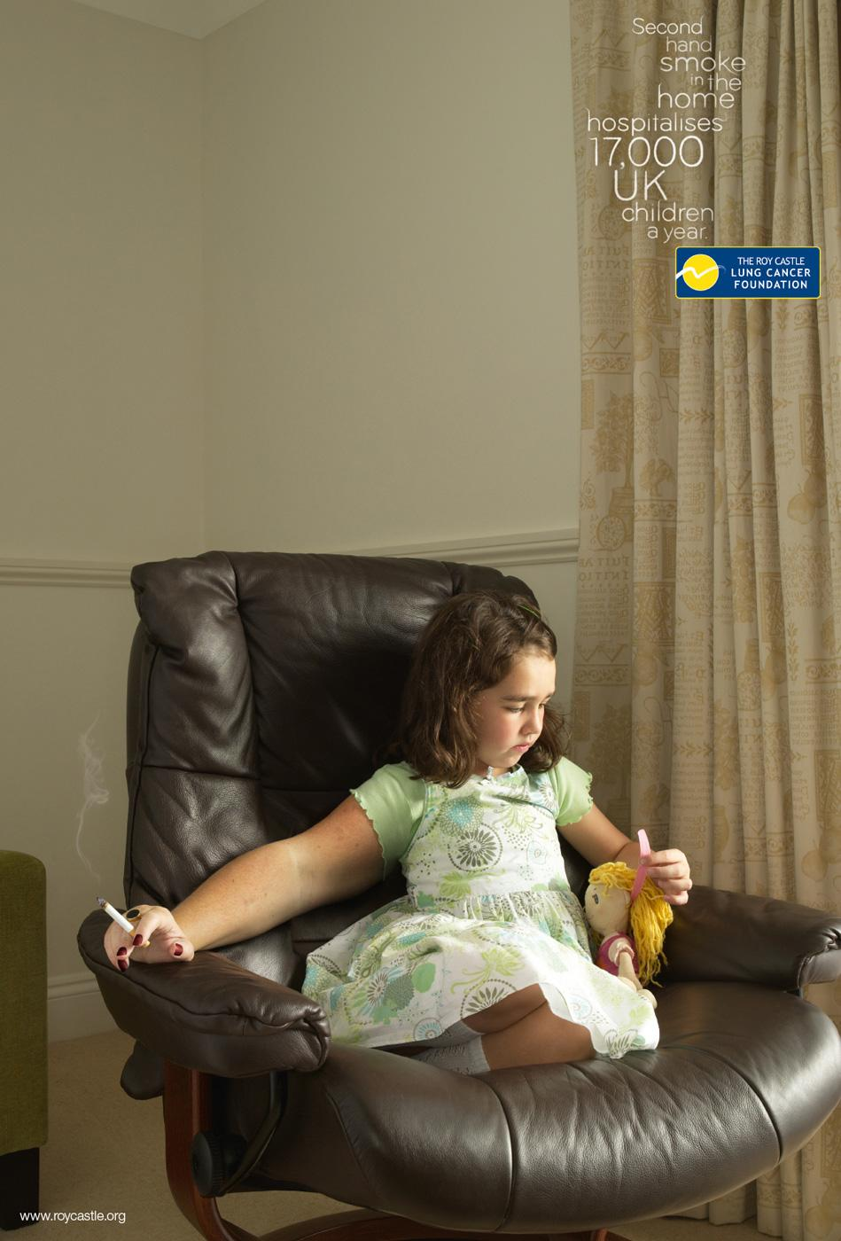 The Roy Castle Lung Cancer Foundation Print Ad -  Chair