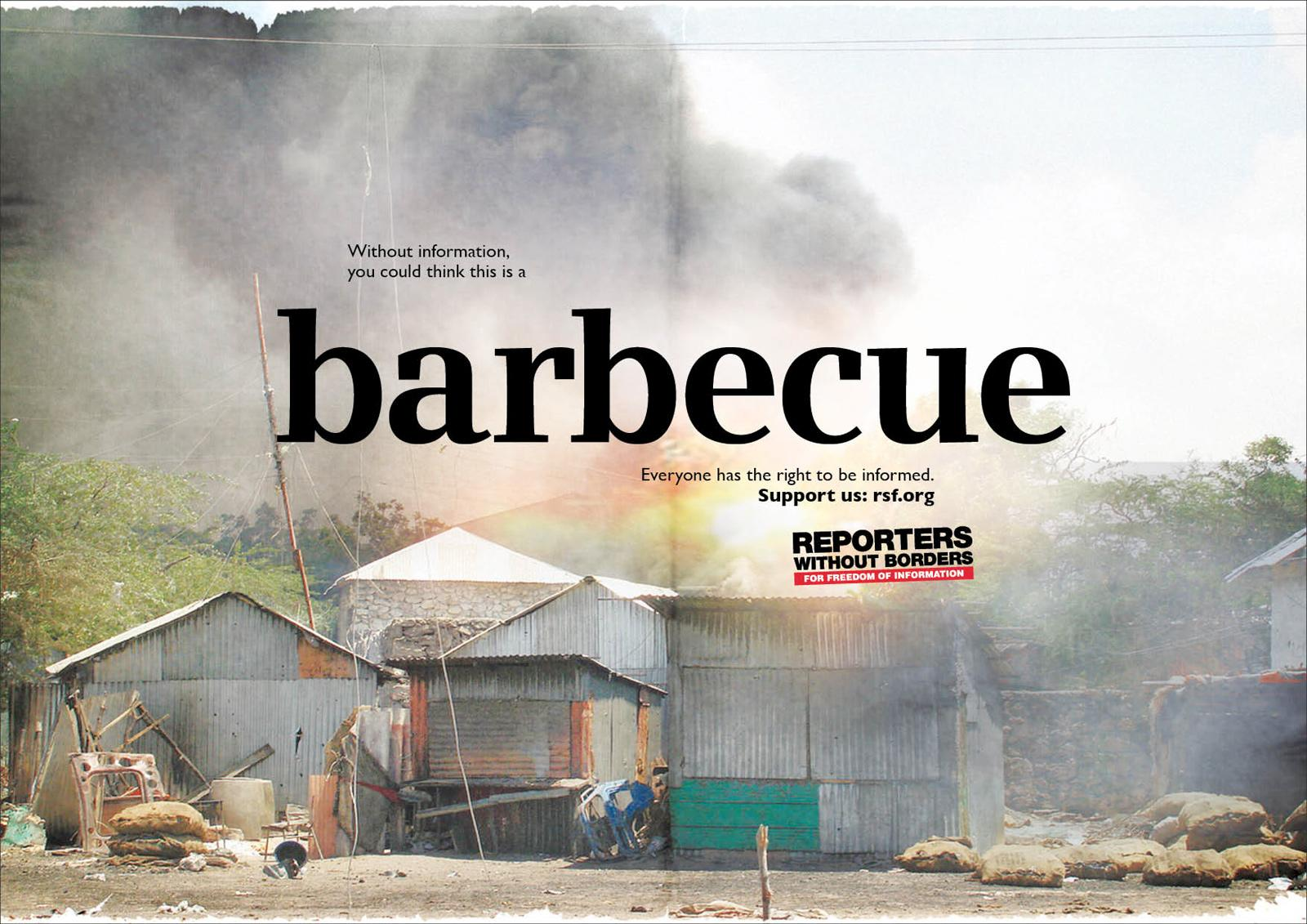Reporters Without Borders Print Ad -  Barbecue