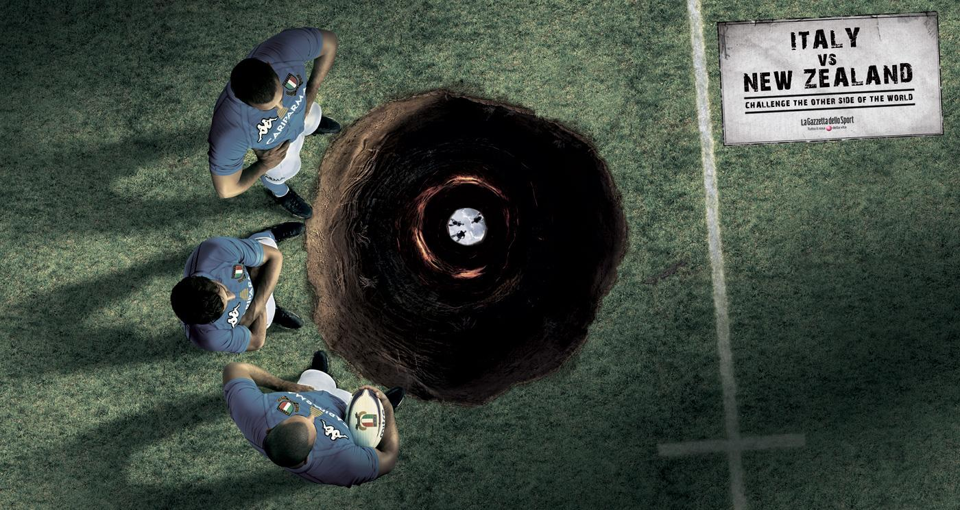 La Gazzetta dello Sport Print Ad -  Rugby - Italy vs New Zealand, 1
