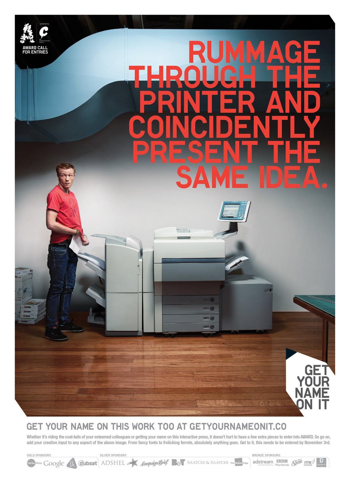 AWARD Print Ad -  Get Your Name On It, Printer