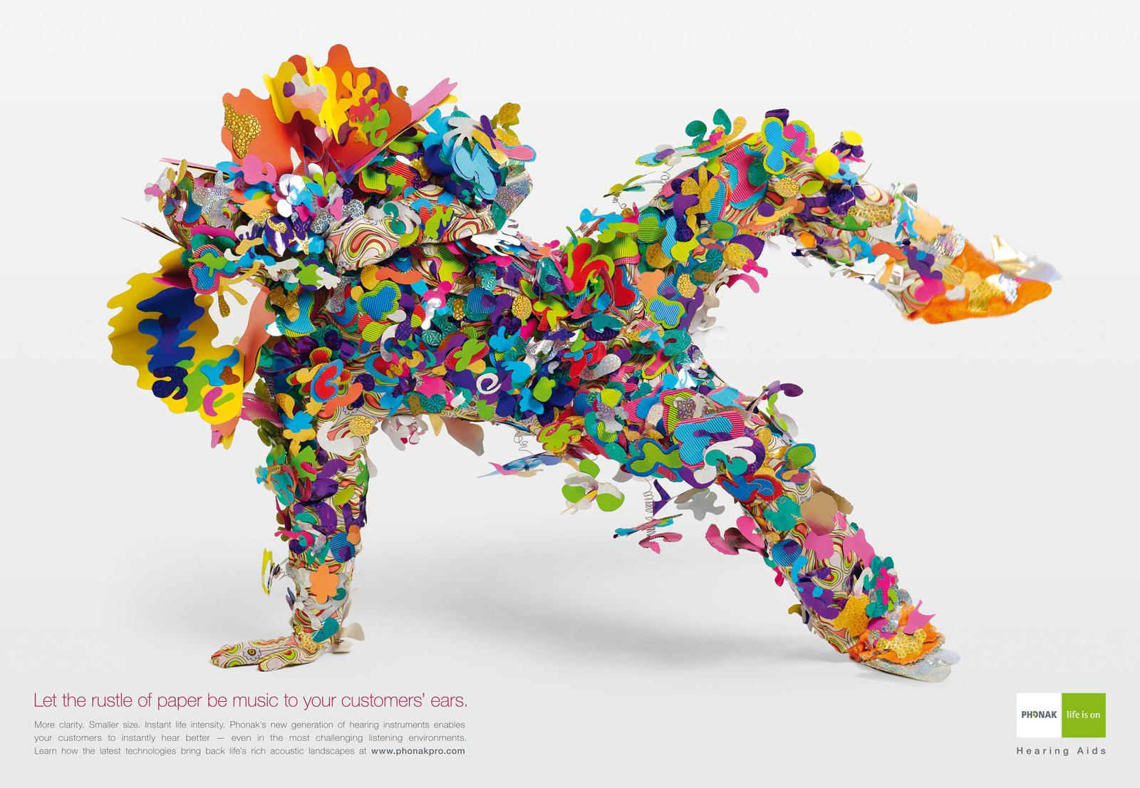 Phonak Print Ad -  Spice, Rustle of Paper