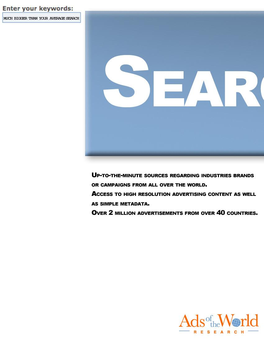 Ads of the World Print Ad -  Search, 2