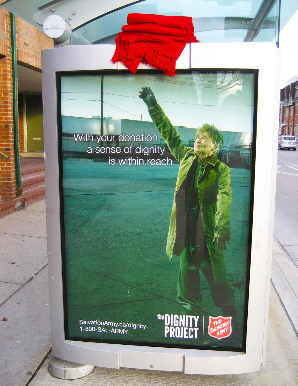 Salvation Army Outdoor Ad -  Blanket