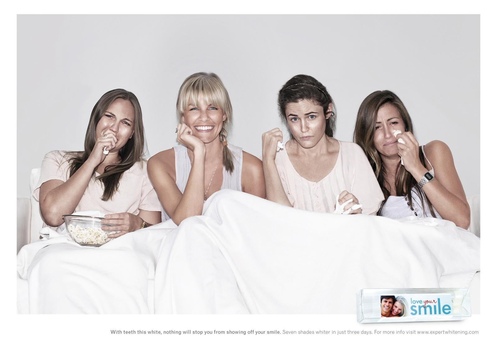 Expertwhitening Print Ad -  Sad movie