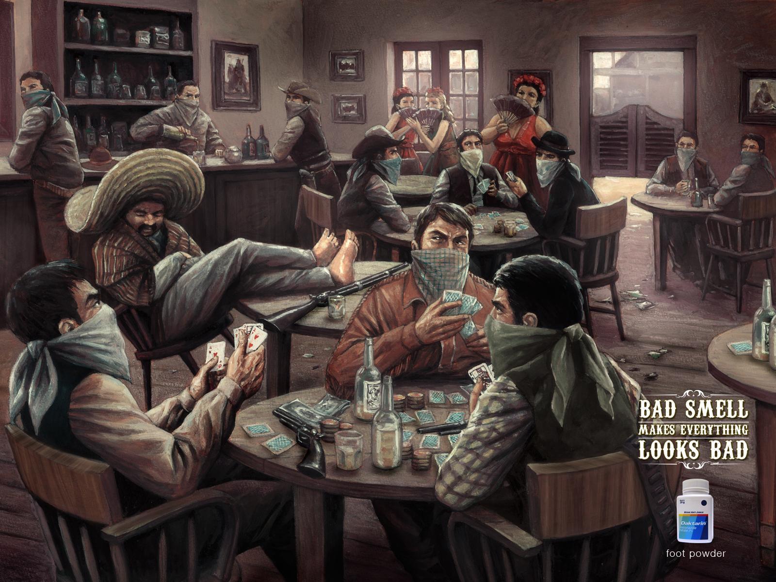 Daktarin Powder Print Ad -  Saloon