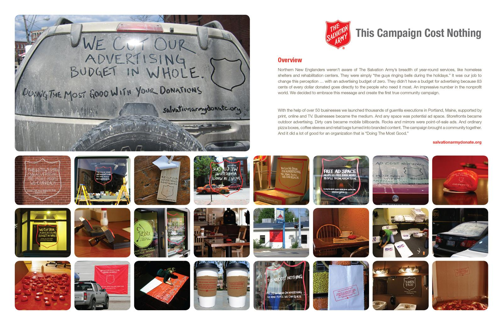 Salvation Army Ambient Ad -  Nothing