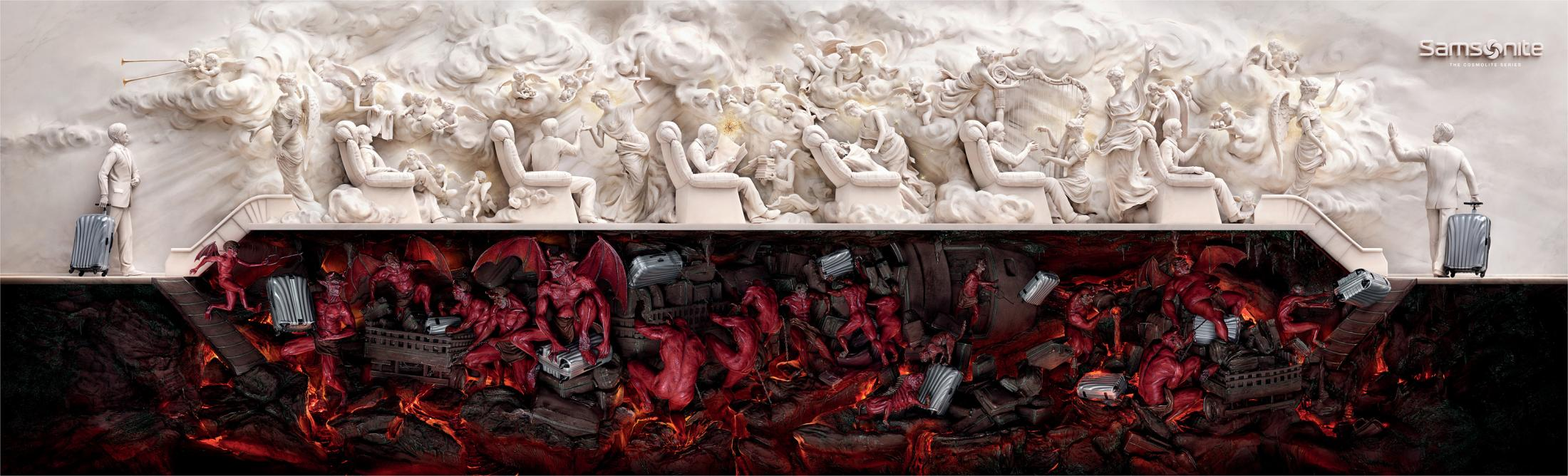 Samsonite Outdoor Ad -  Heaven and Hell