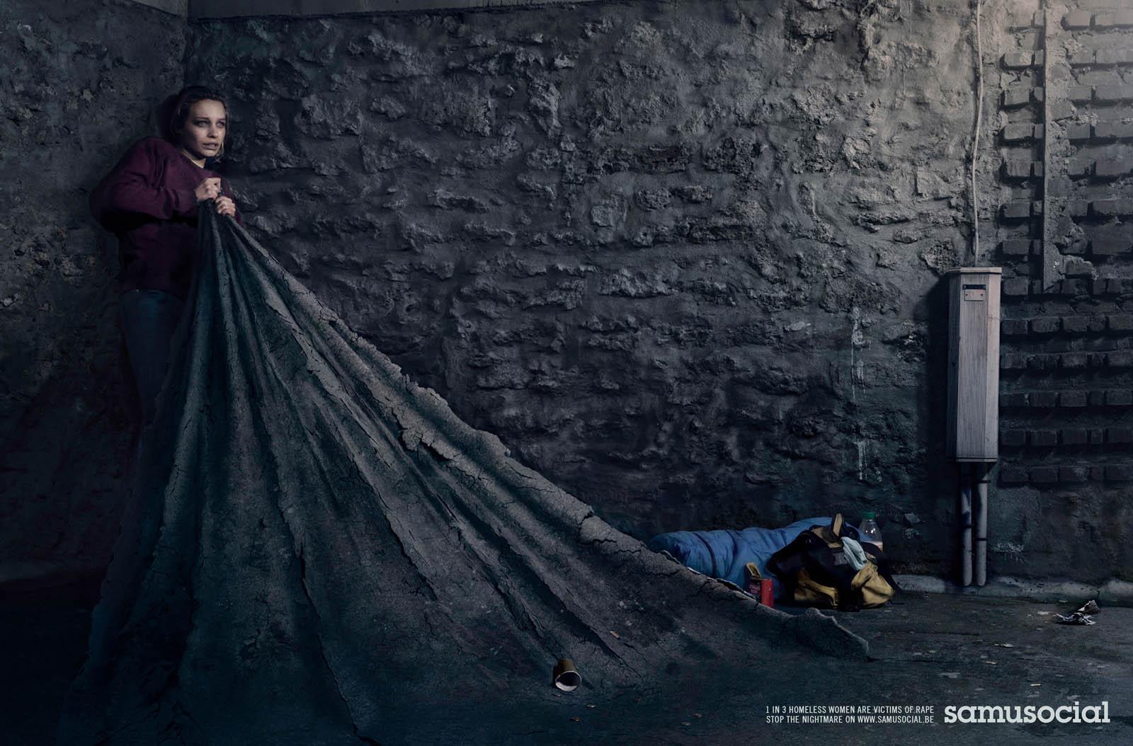 Samusocial Print Ad -  Stop the Nightmare, 2