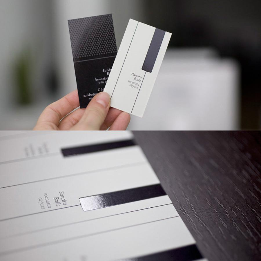 Sandra Boïls Direct Ad -  Business cards