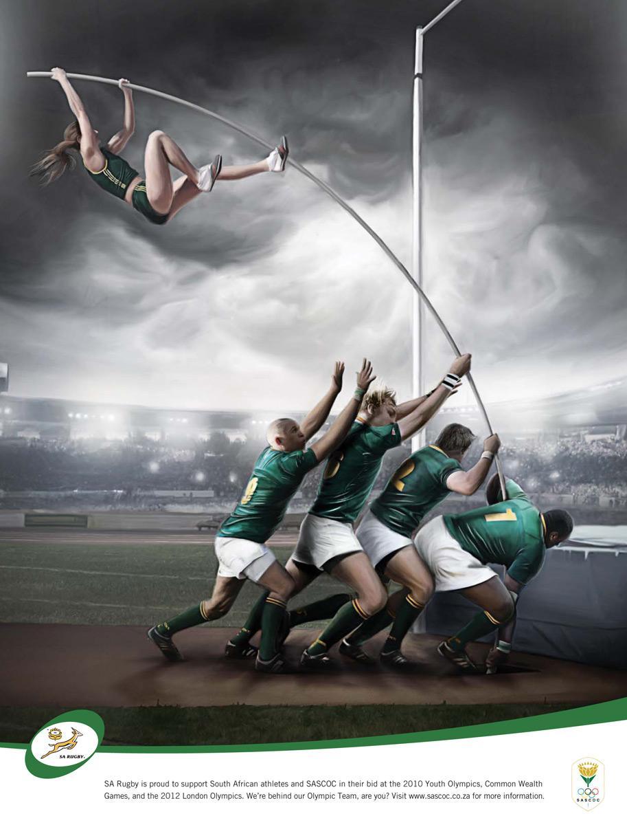 SA Rugby Print Ad -  Pole Vault