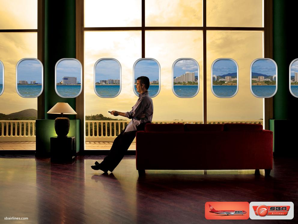 SBA airlines Print Ad -  Windows, 2