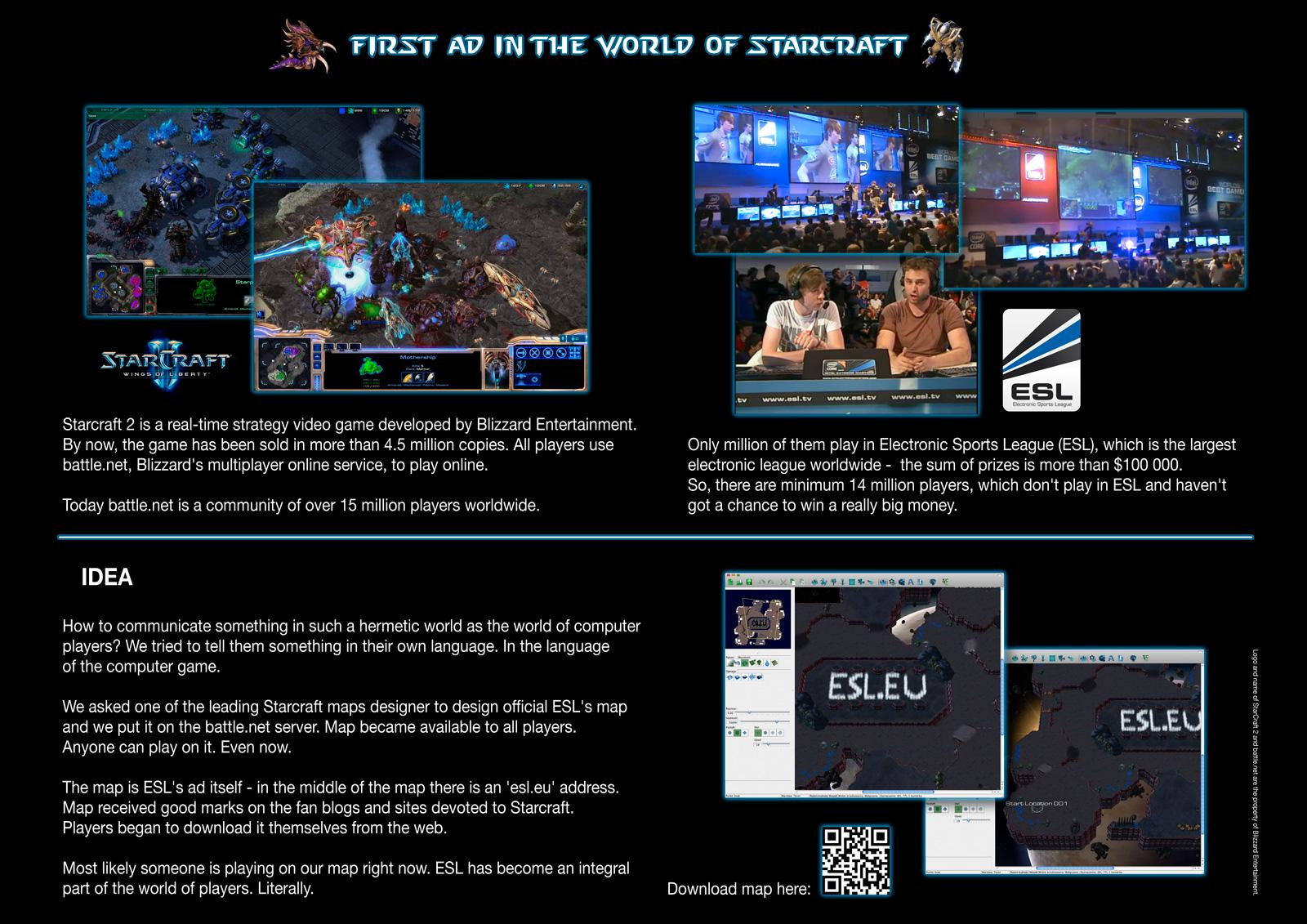 ESL Digital Ad -  First ad in the world of Starcraft