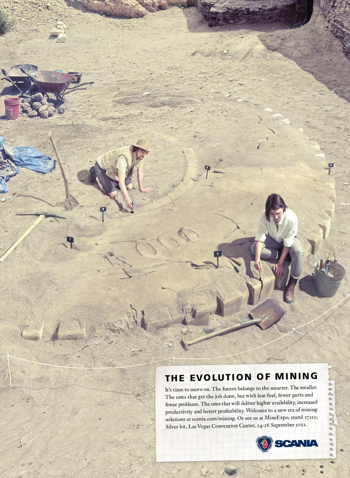 Scania Print Ad -  The Evolution of Mining, 2