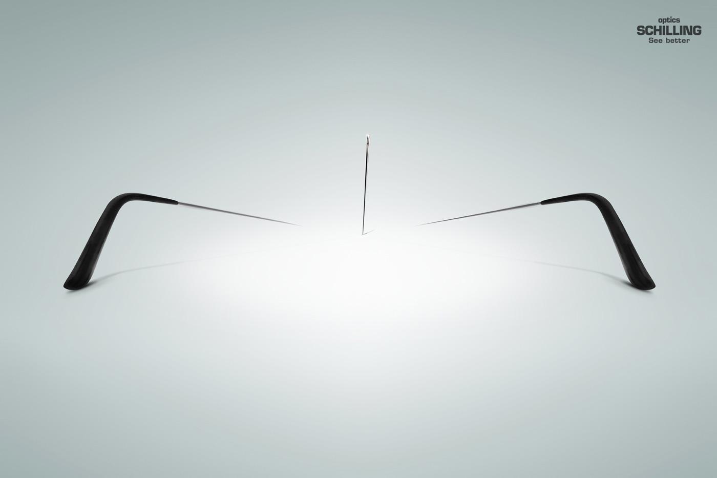 Ópticas Schilling Print Ad -  Needle