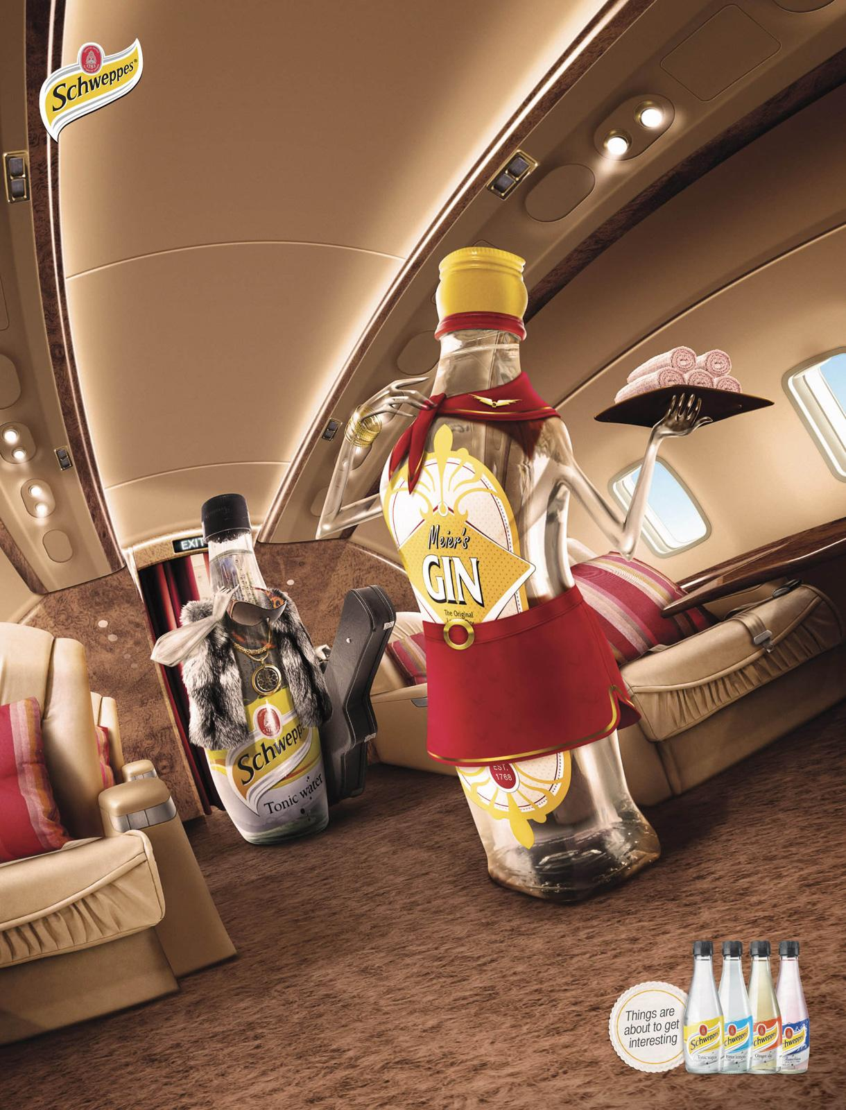Schweppes Print Ad -  Make a Cocktail, 2