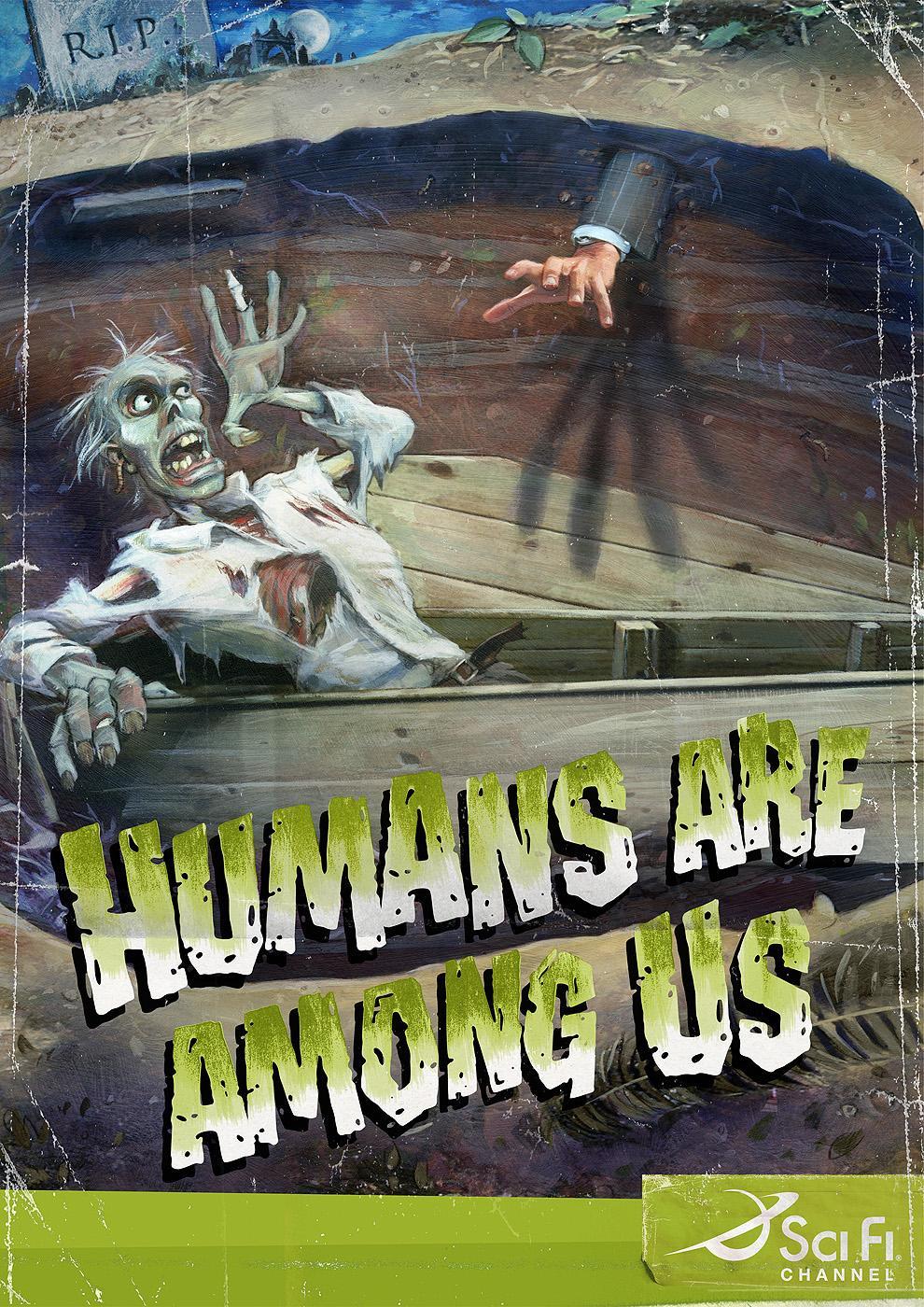 Sci Fi Channel Print Ad -  Zombie