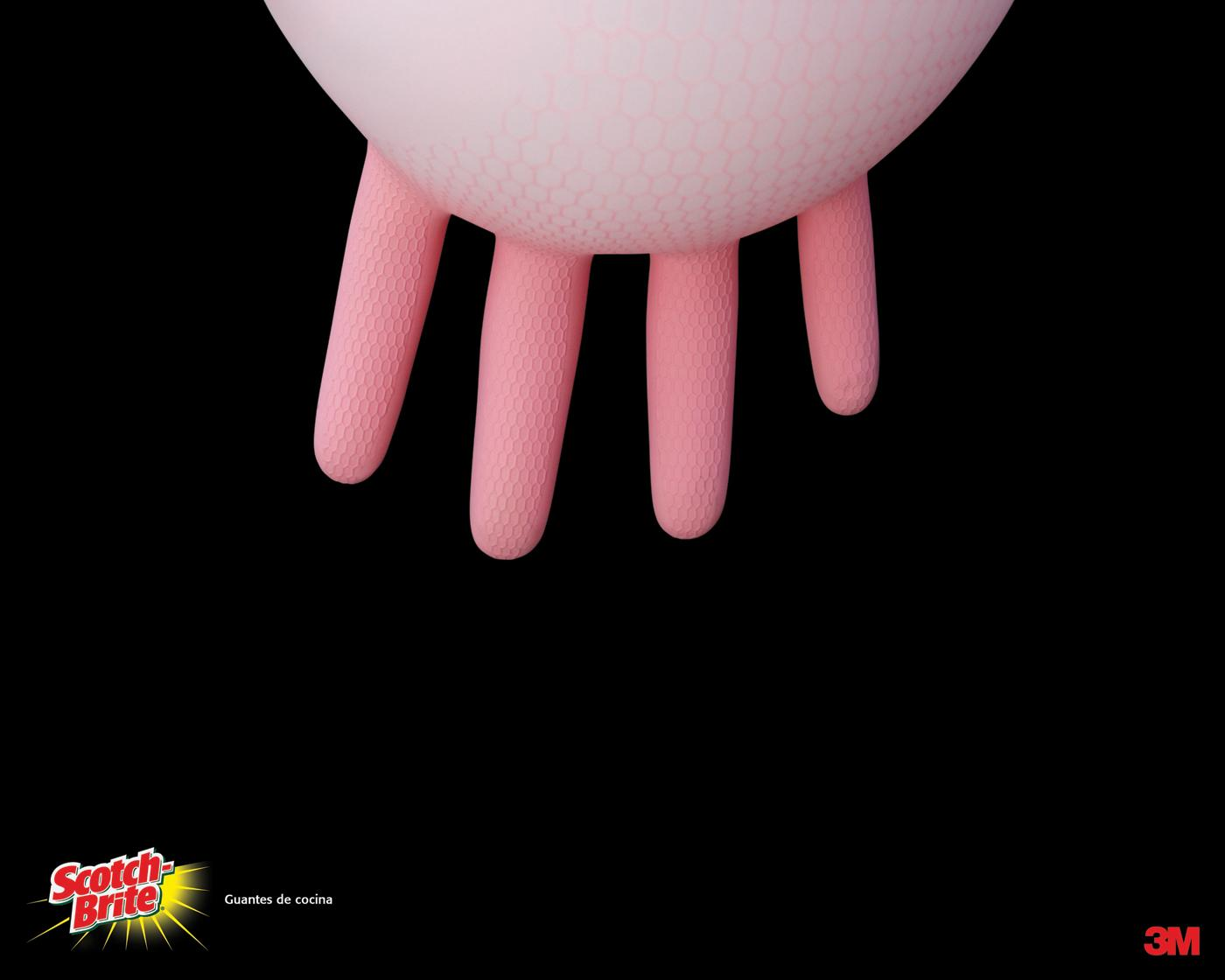 Scotch-Brite Print Ad -  Kitchen gloves, 2