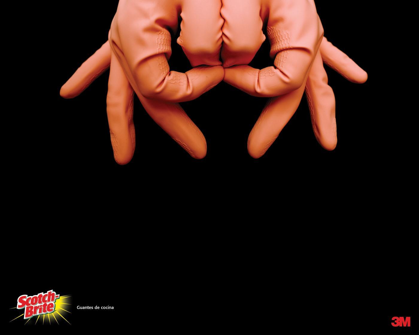 Scotch-Brite Print Ad -  Kitchen gloves, 3