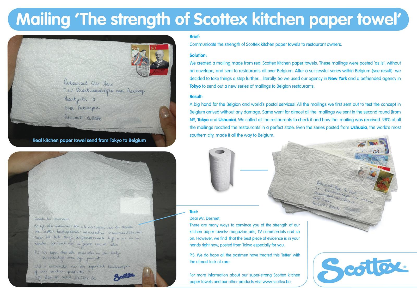 Scottex Ambient Ad -  Letter