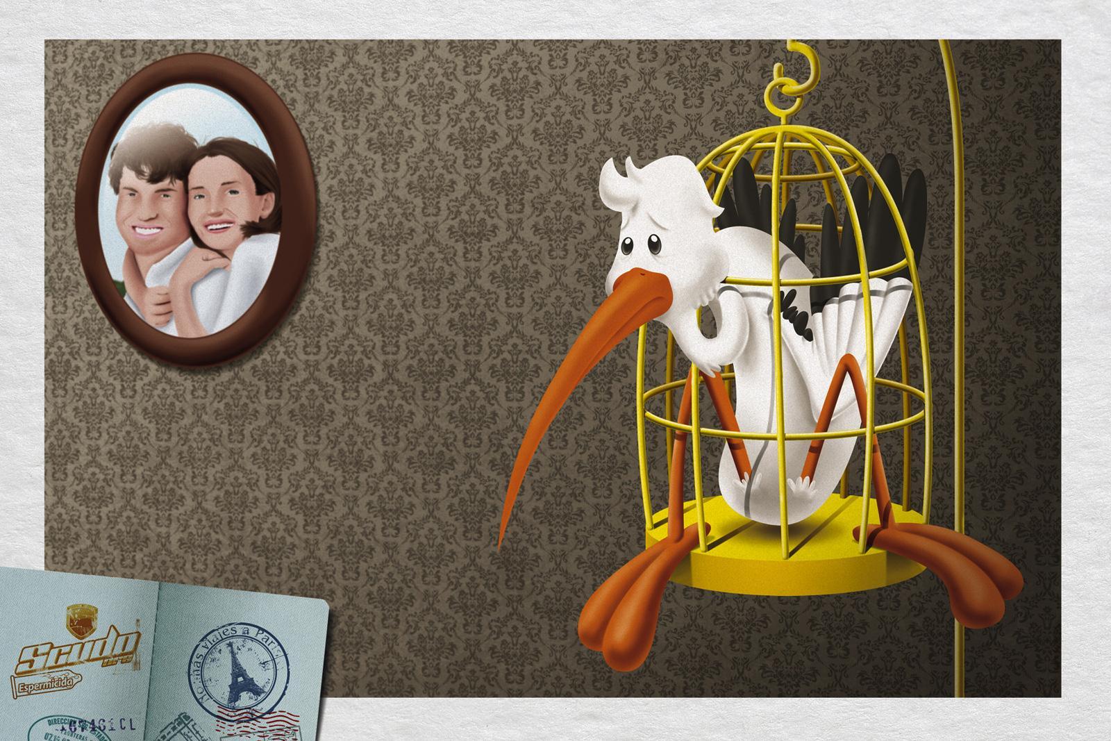 Scudo Condoms Print Ad -  Storks, 3
