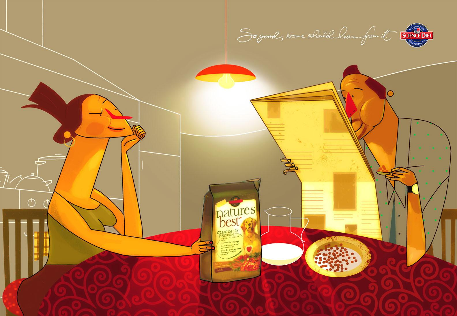 Science Diet Print Ad -  Husband