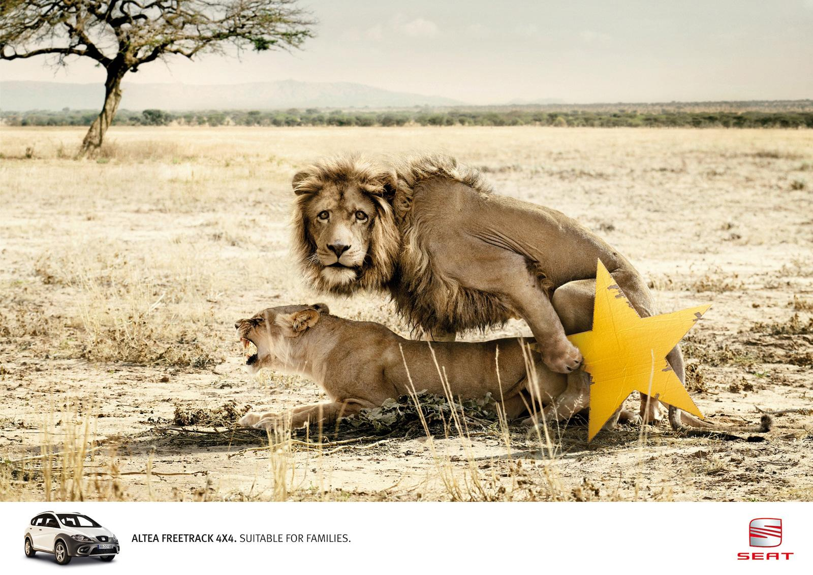 Seat Print Ad -  Lions