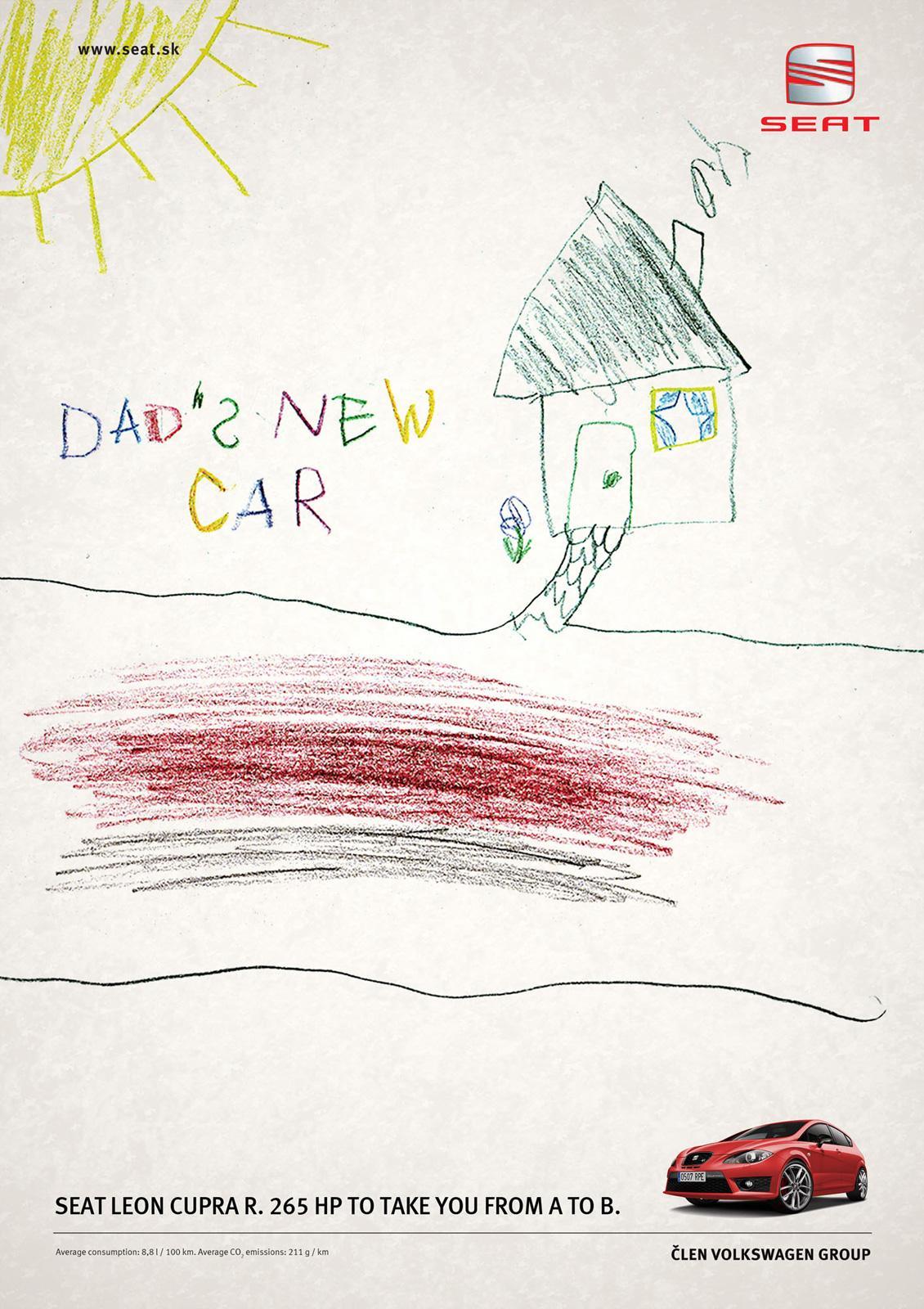 Seat Print Ad -  Dad's car