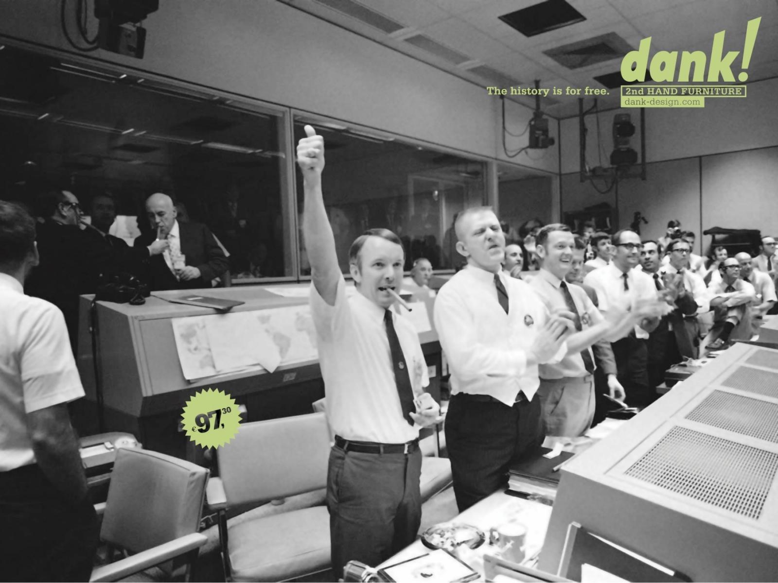 Dank! Print Ad -  Apollo 13 Succes