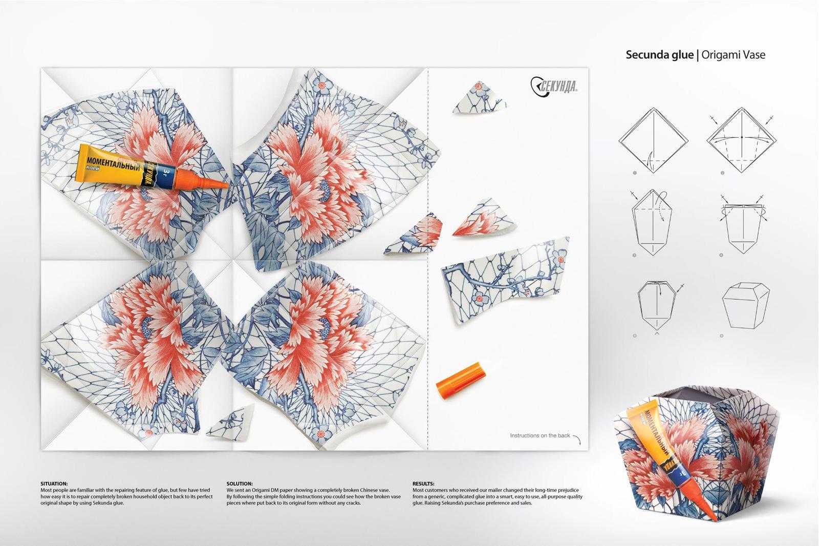 Sekunda Direct Advert By BBDO Origami Vase