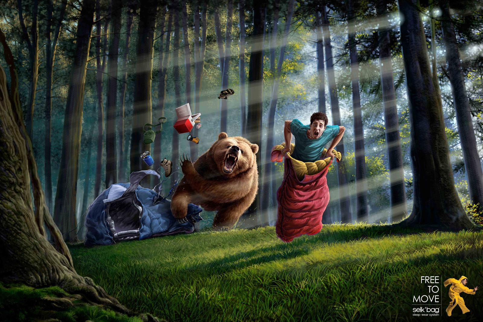 Selk'bag Print Ad -  Bear