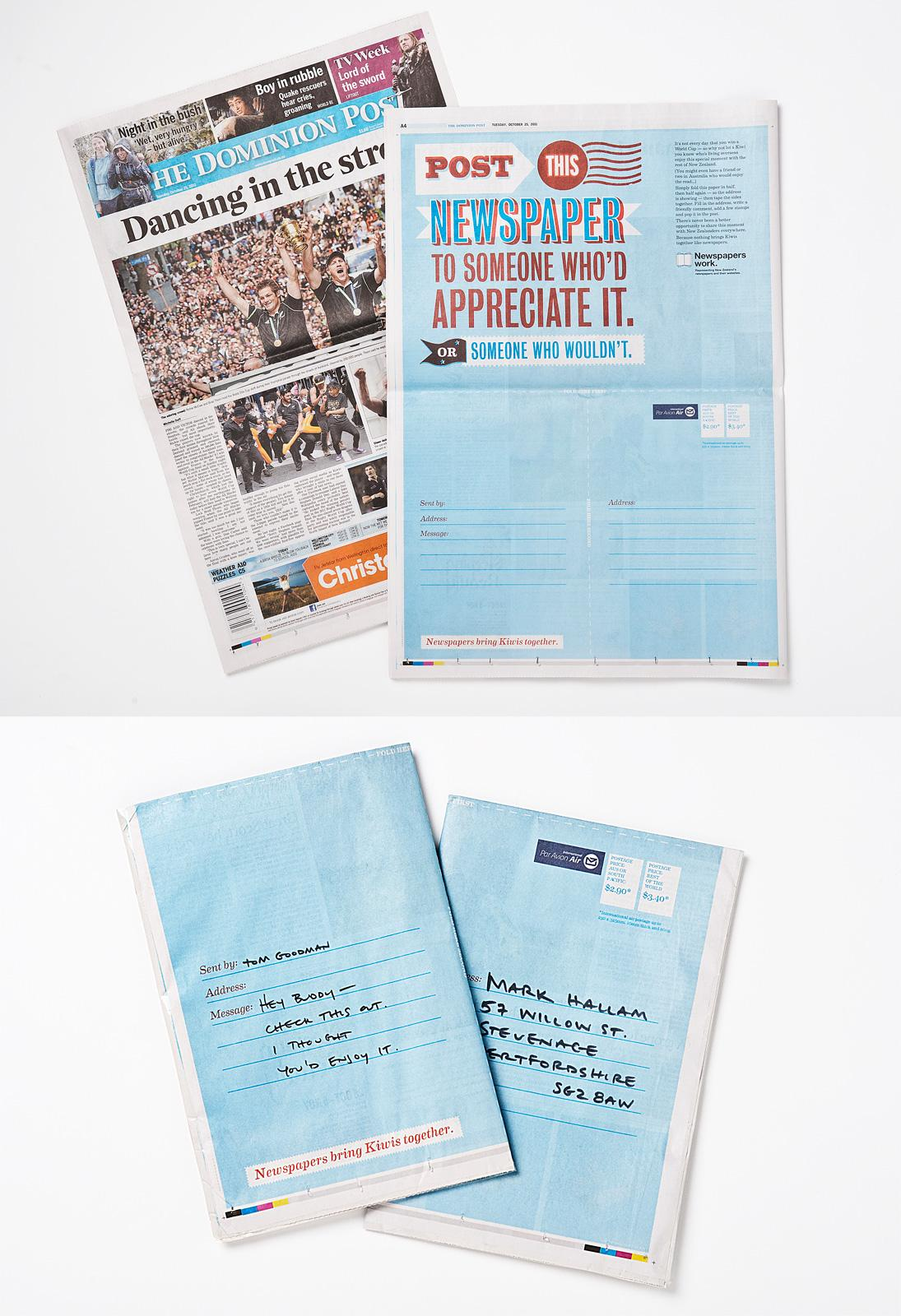 Newspaper Publishers Association Print Ad -  Send a Newspaper