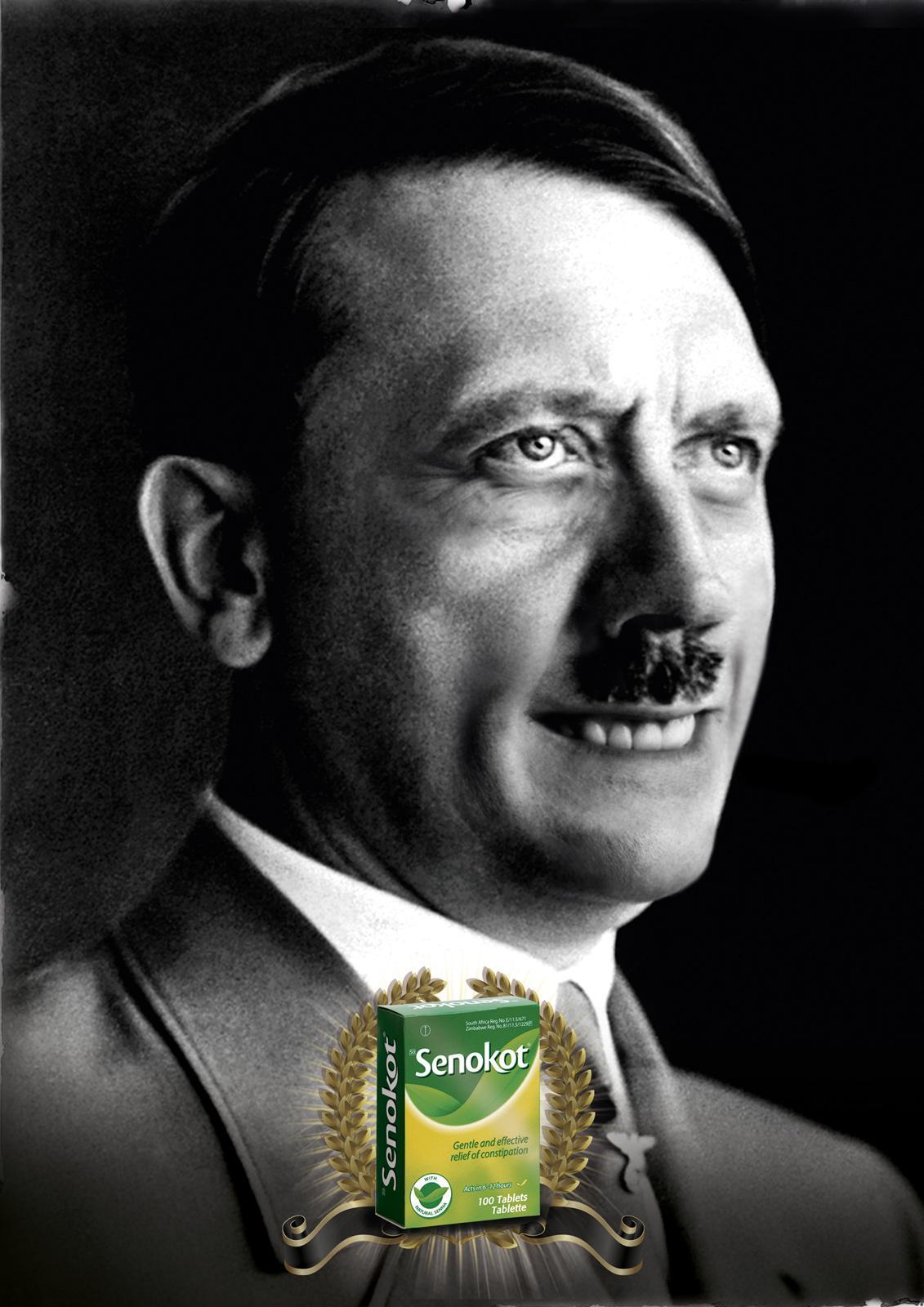 Senokot Print Ad -  Hitler