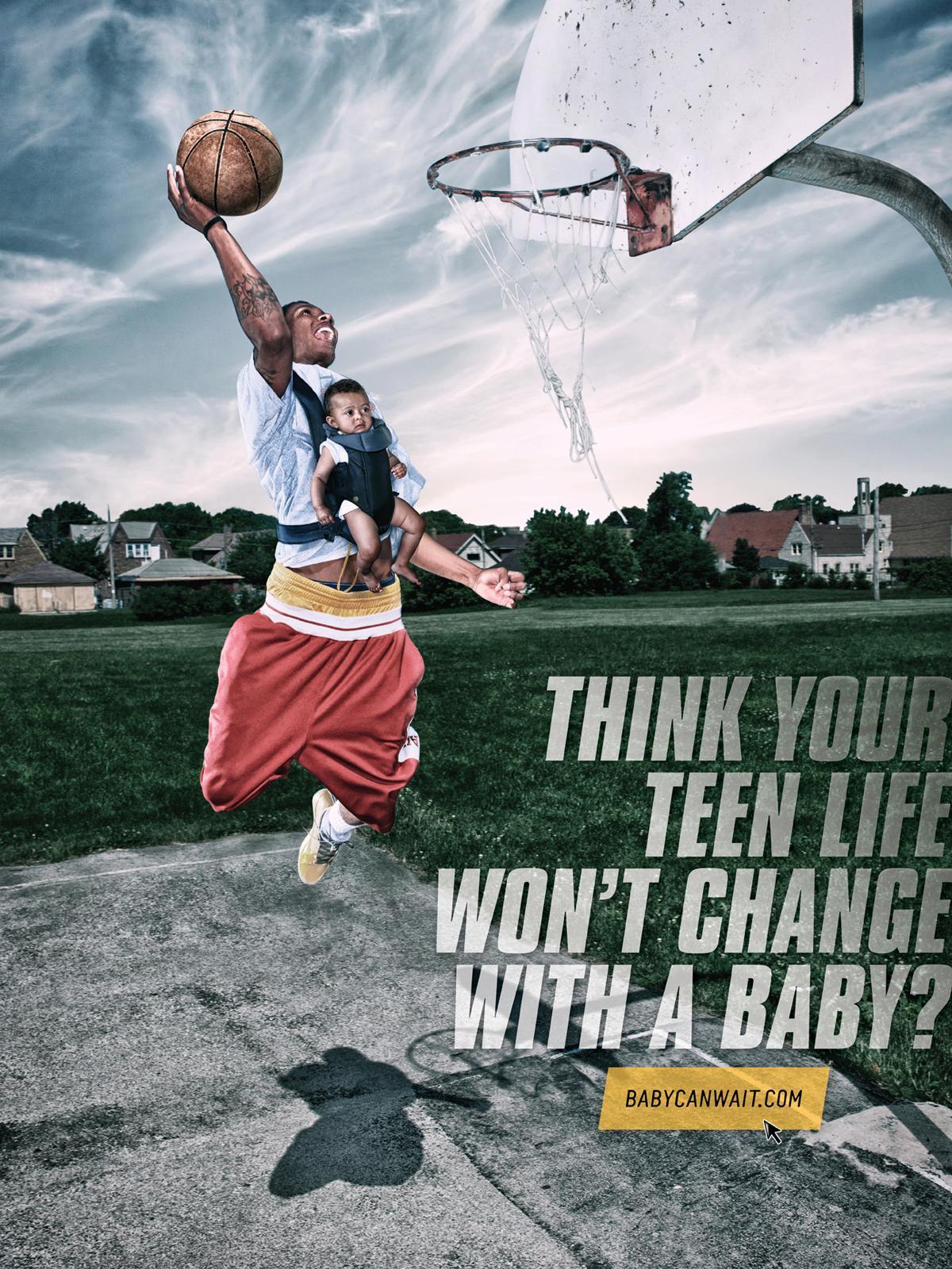babycanwait.com Print Ad -  Basketball
