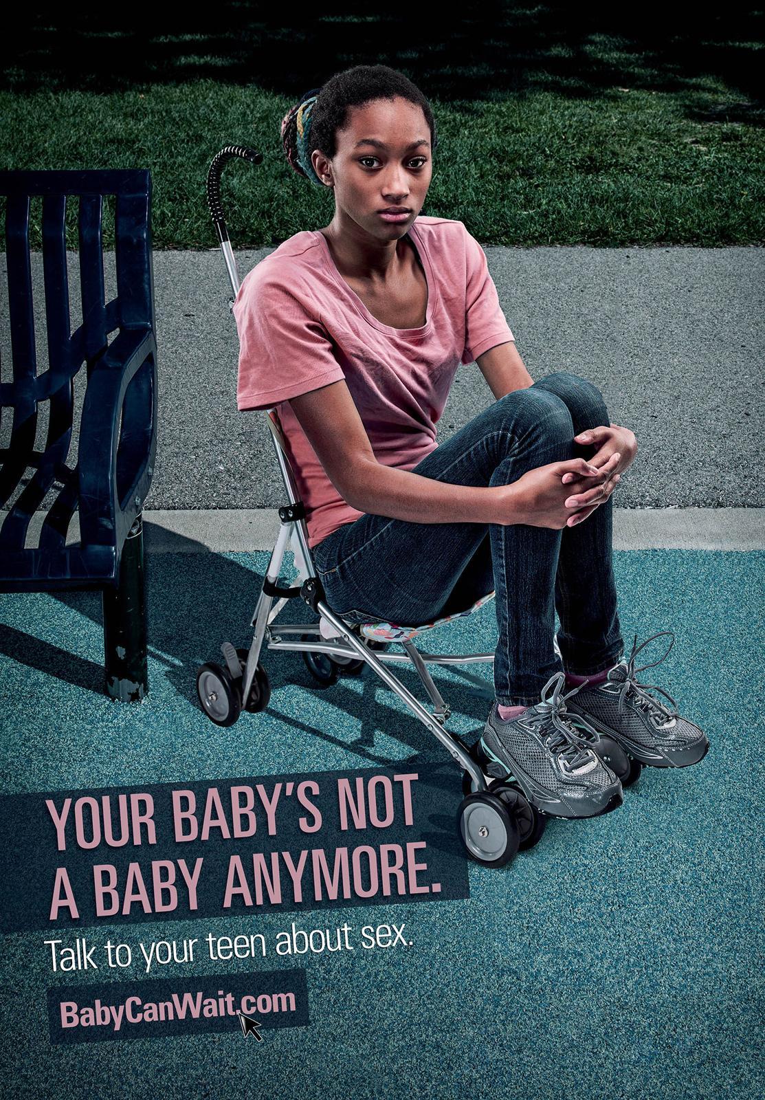 babycanwait.com Outdoor Ad -  Teen Baby, 3