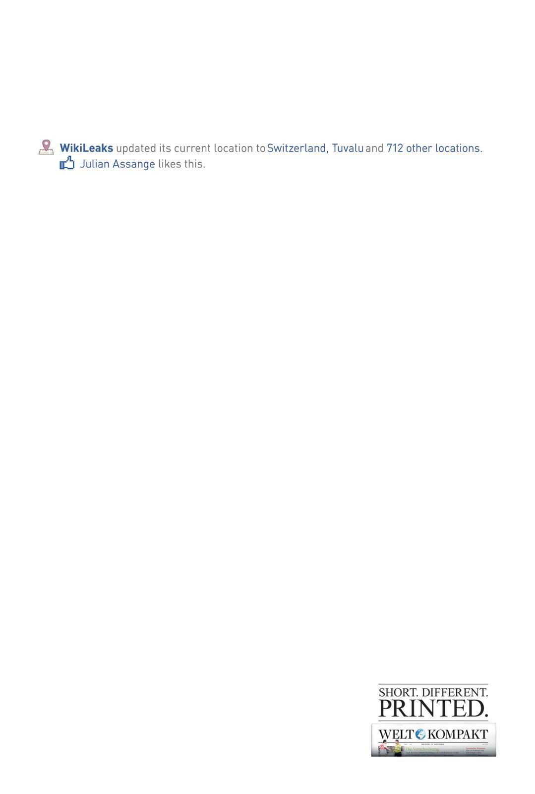 Welt Kompakt Print Ad -  Server Relocation