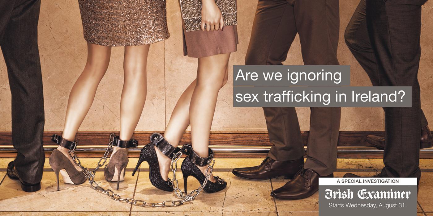 Irish Examiner Outdoor Ad -  Sex Trafficking