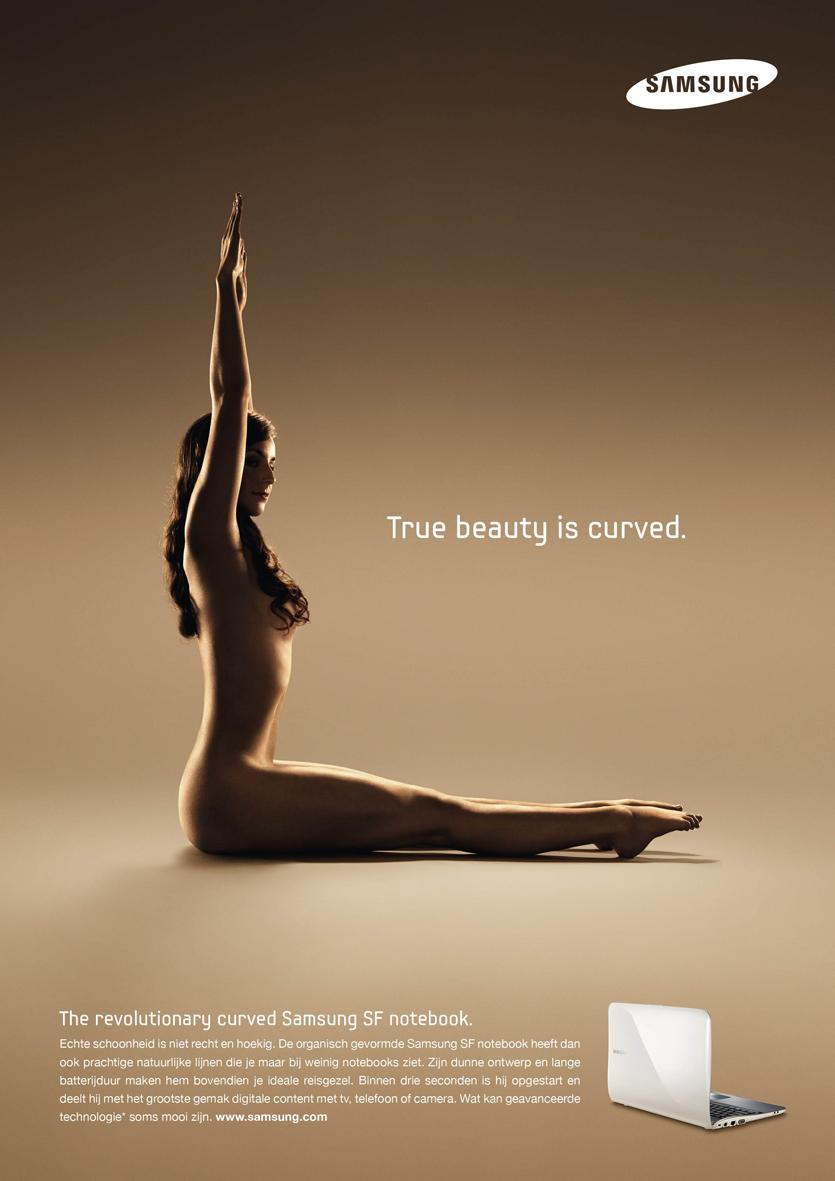 Samsung Print Ad -  True beauty is curved