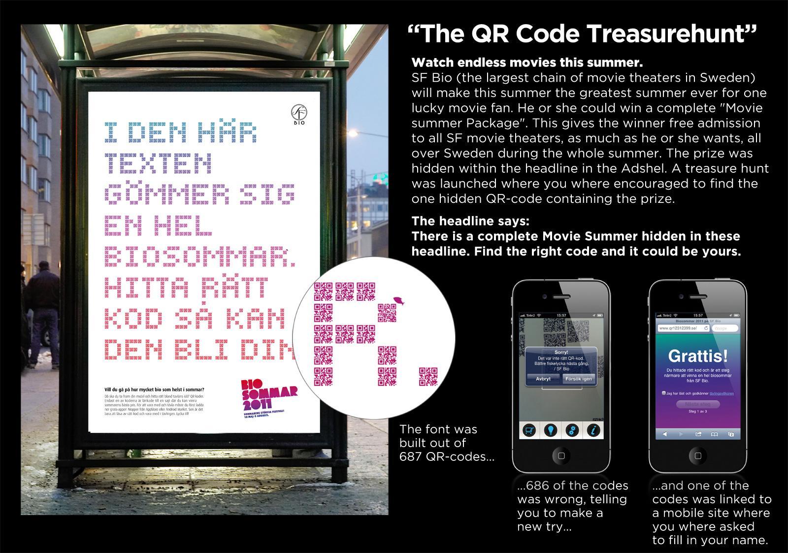 SF Bio Outdoor Ad -  The QR Code Treasurehunt