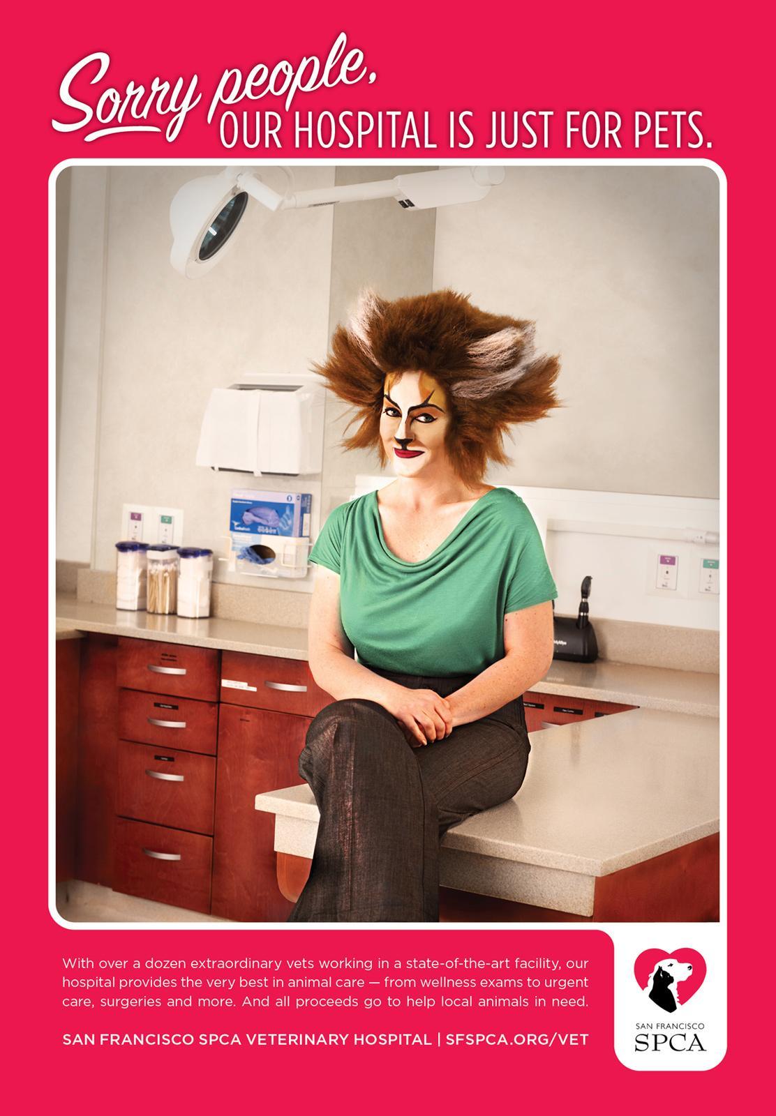 SPCA Print Ad -  Cat Lady