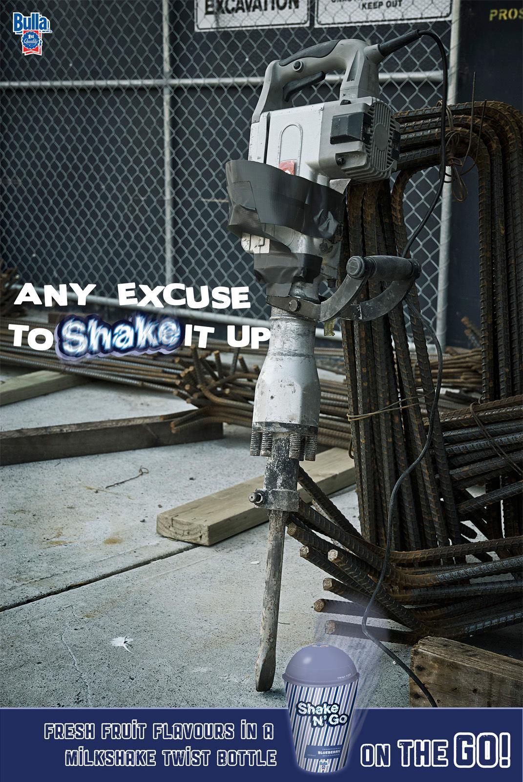 Shake N' Go Print Ad -  Jackhammer