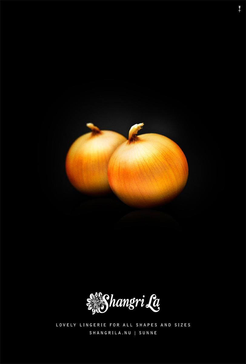 Shangri La Lingerie Print Ad -  Onions