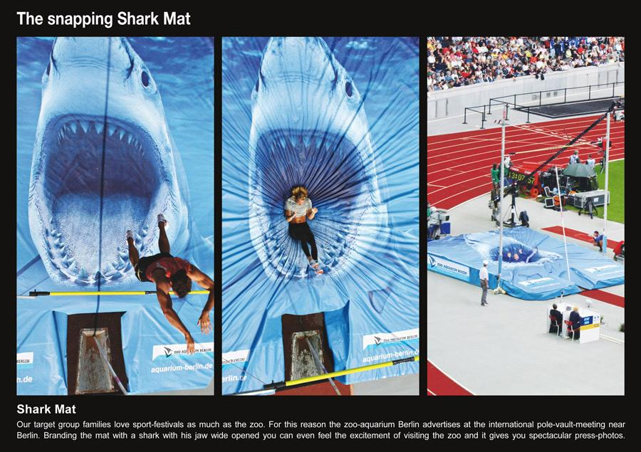 Zoo Berlin Ambient Ad -  The snapping Shark Mat