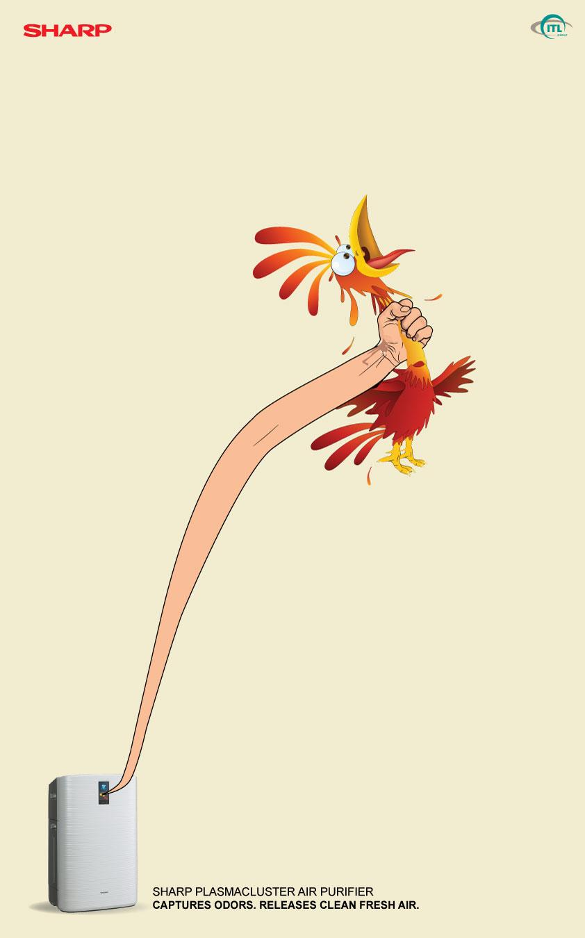 Sharp Print Ad -  Chicken