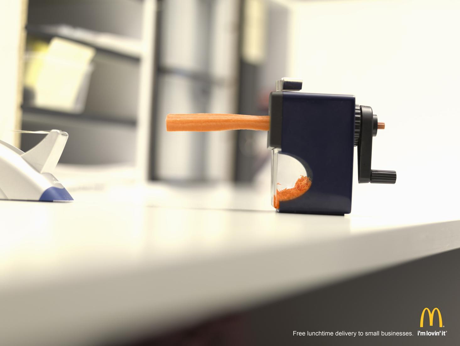 McDonald's Print Ad -  Pencil Sharpener