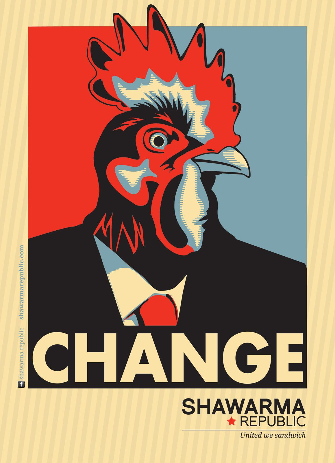 Shawarma Republic Print Ad -  United We Sandwich, Chicken