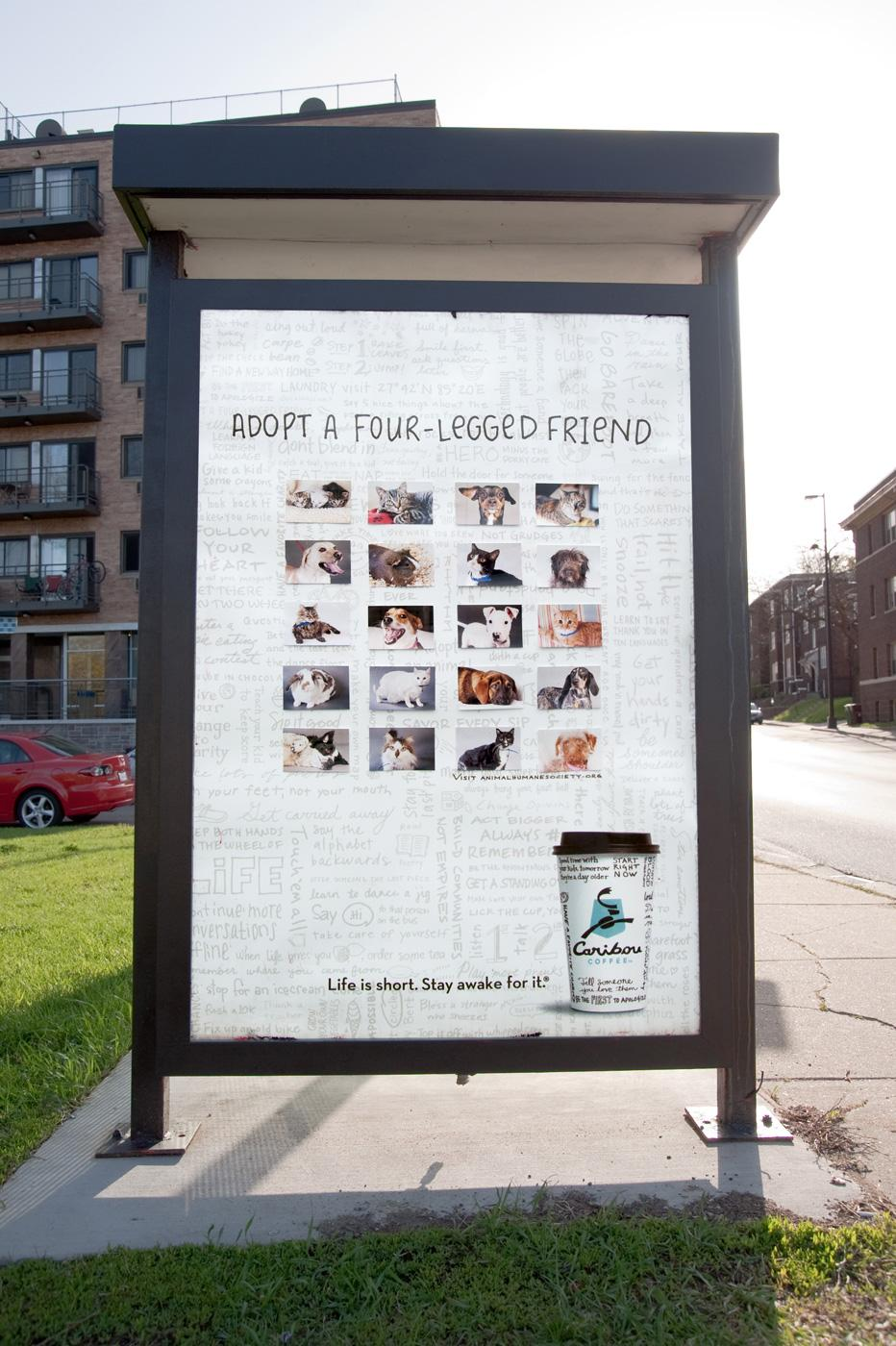 Caribou Coffee Outdoor Ad -  Adopt