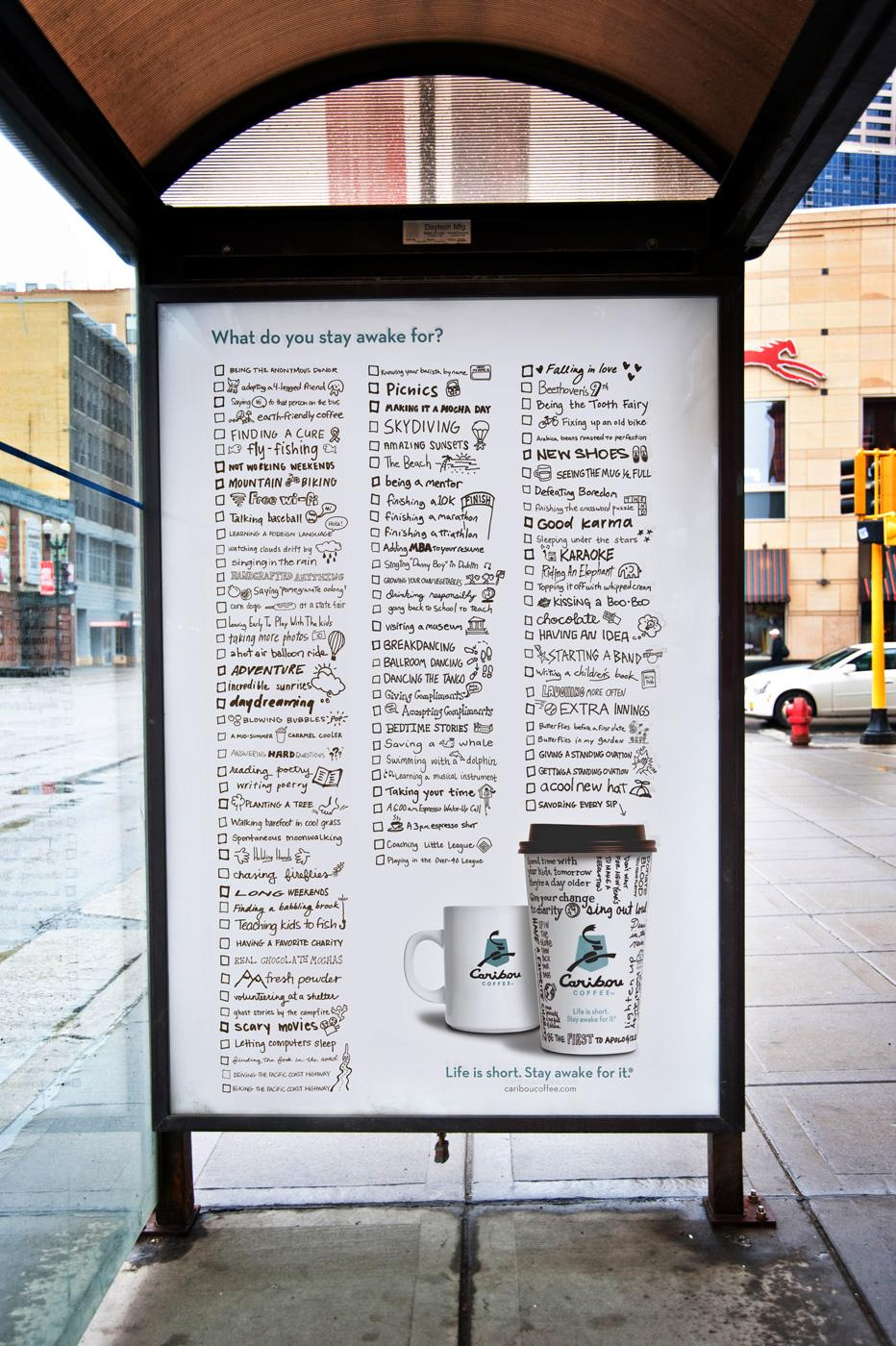 Caribou Coffee Outdoor Ad -  List