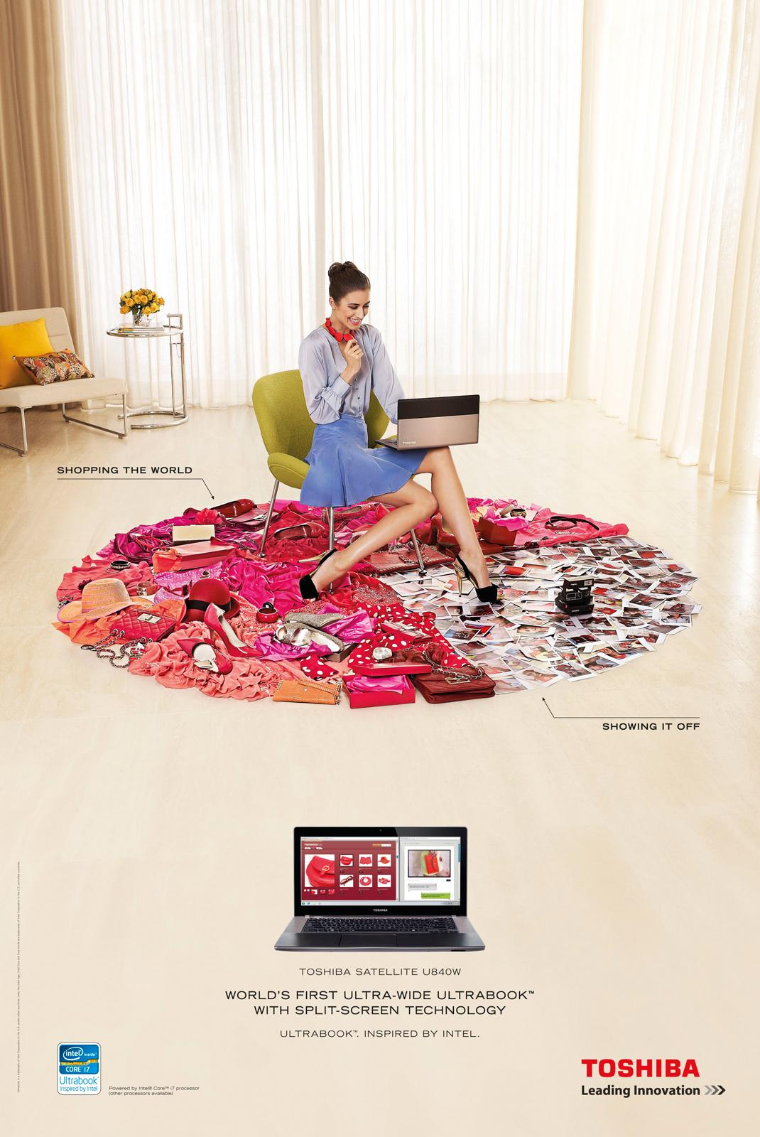 Toshiba Print Ad -  Shopping